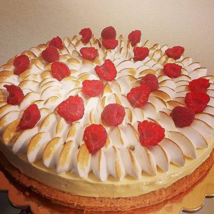 torta moderna limone meringa